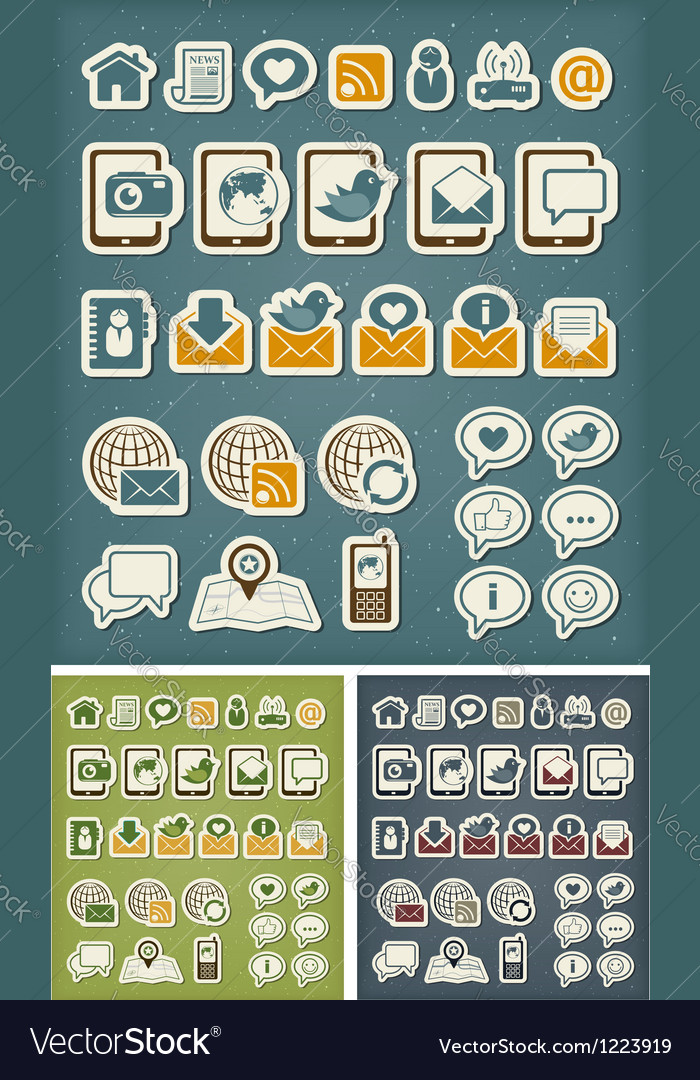 Internet communication icons vector | Price: 3 Credit (USD $3)