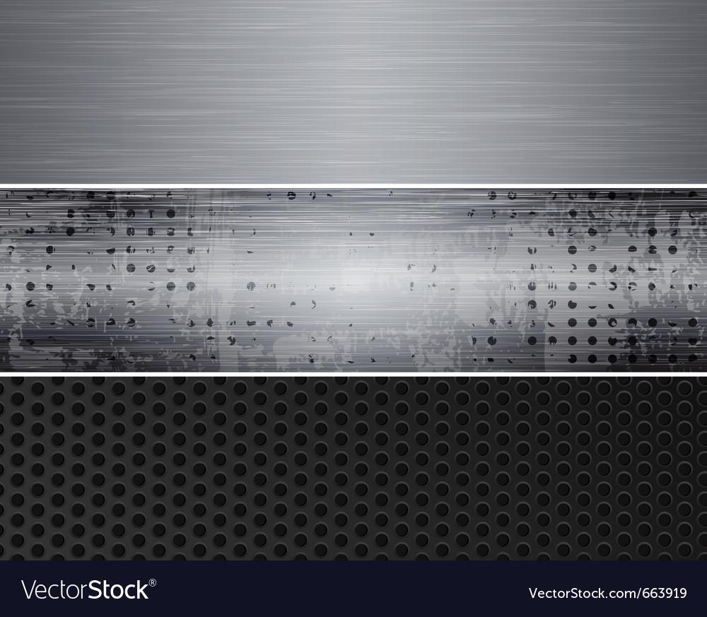 Metal banners vector   Price: 1 Credit (USD $1)
