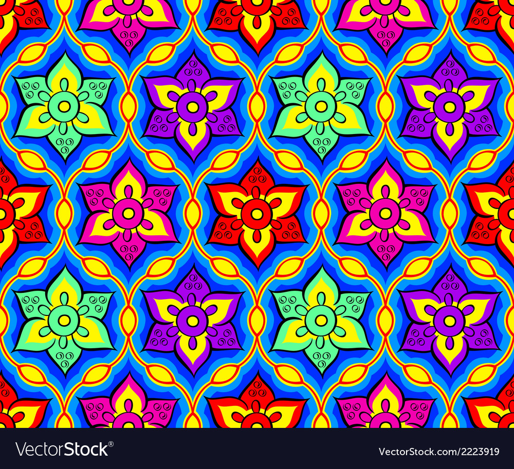 Rangoli seamless pattern vector | Price: 1 Credit (USD $1)