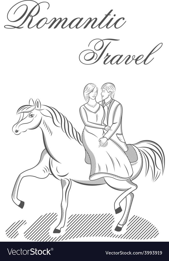 Romantic travel vector | Price: 1 Credit (USD $1)