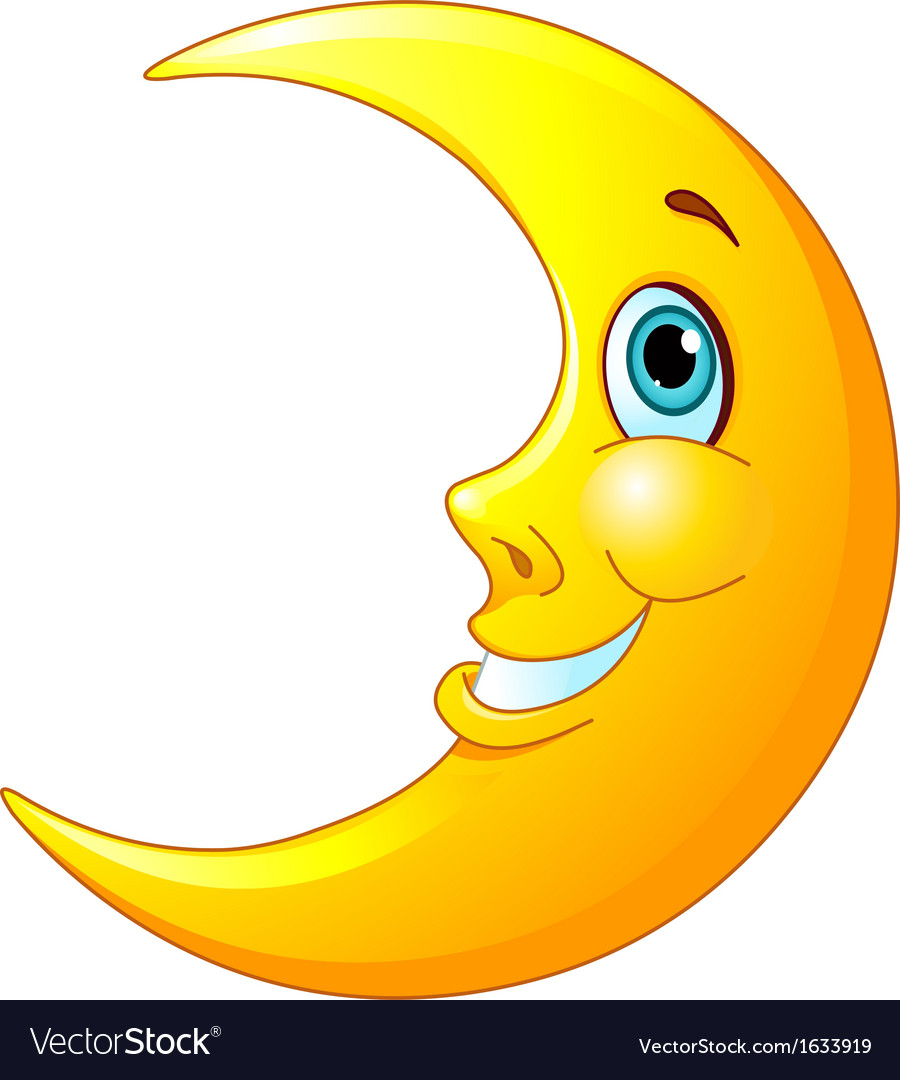 Smiling moon vector | Price: 1 Credit (USD $1)