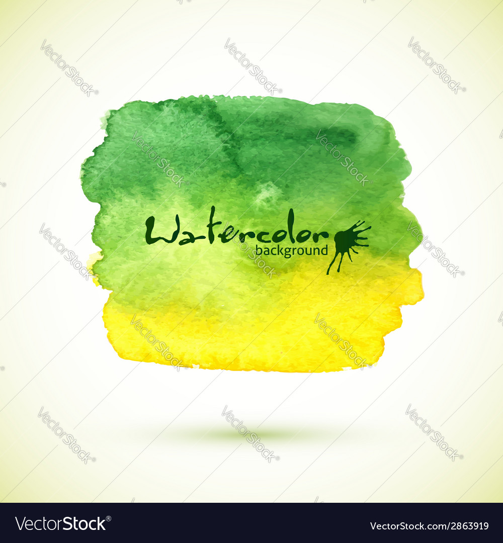 Watercolor painted green banner vector | Price: 1 Credit (USD $1)