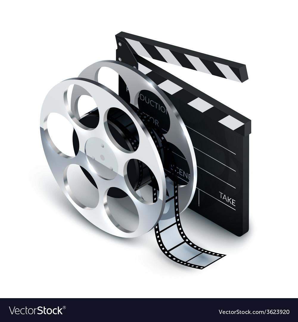 Cinema concept realistic vector | Price: 1 Credit (USD $1)