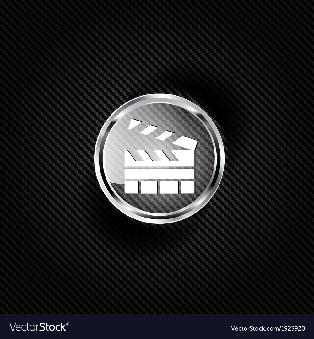 Clapperboard icon film  cinema movie symbol vector | Price: 1 Credit (USD $1)