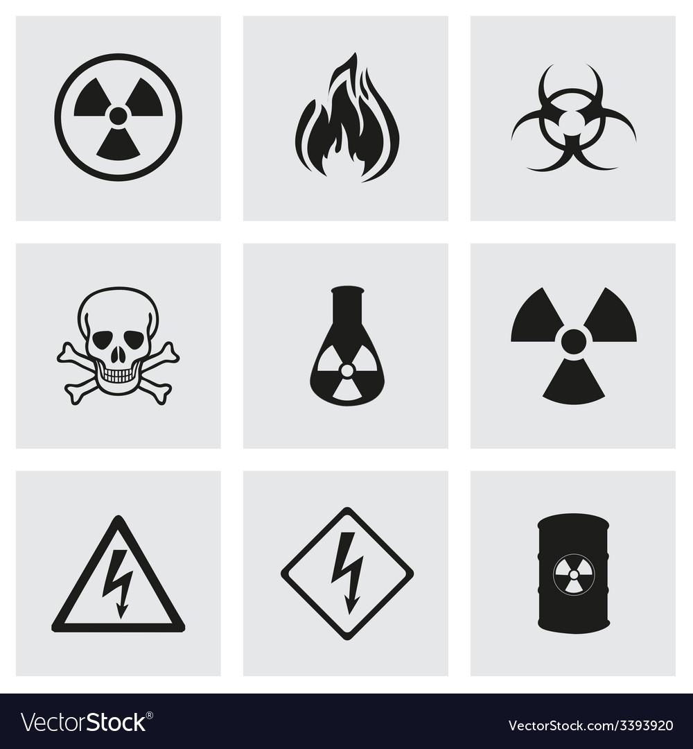 Danger icons set vector | Price: 1 Credit (USD $1)