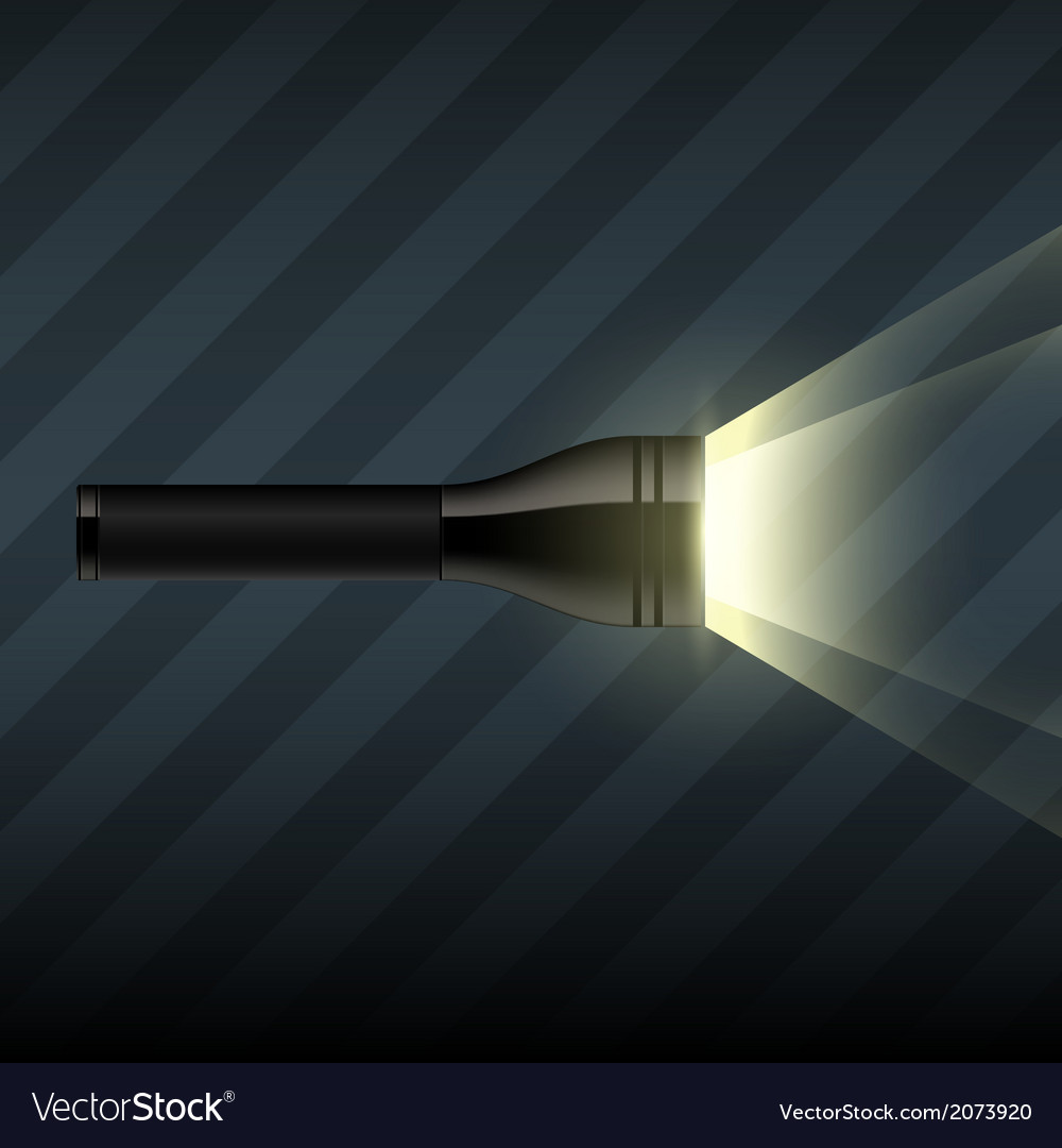 Flashlight on dark striped background vector | Price: 1 Credit (USD $1)