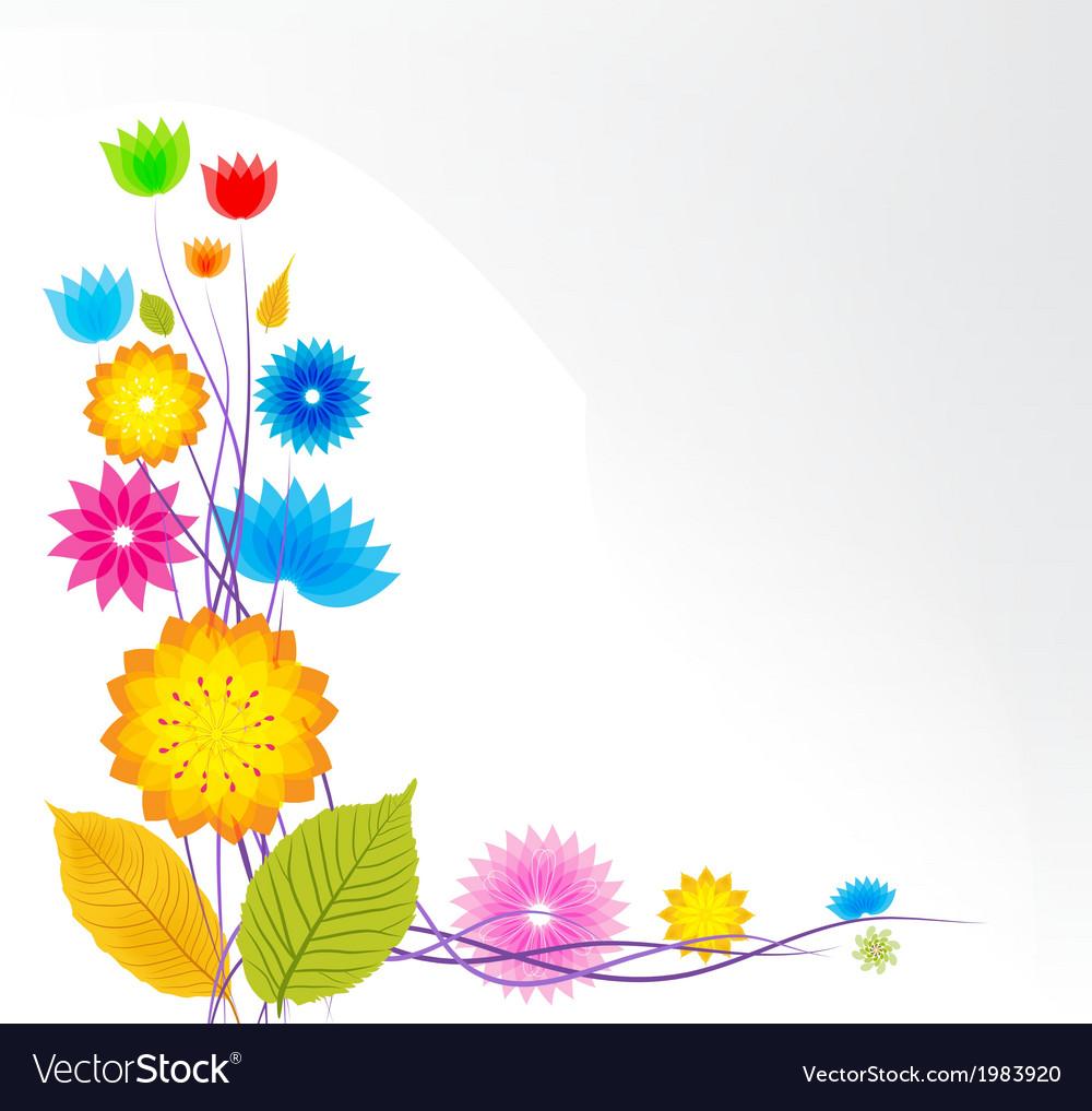 Flower background design vector   Price: 1 Credit (USD $1)