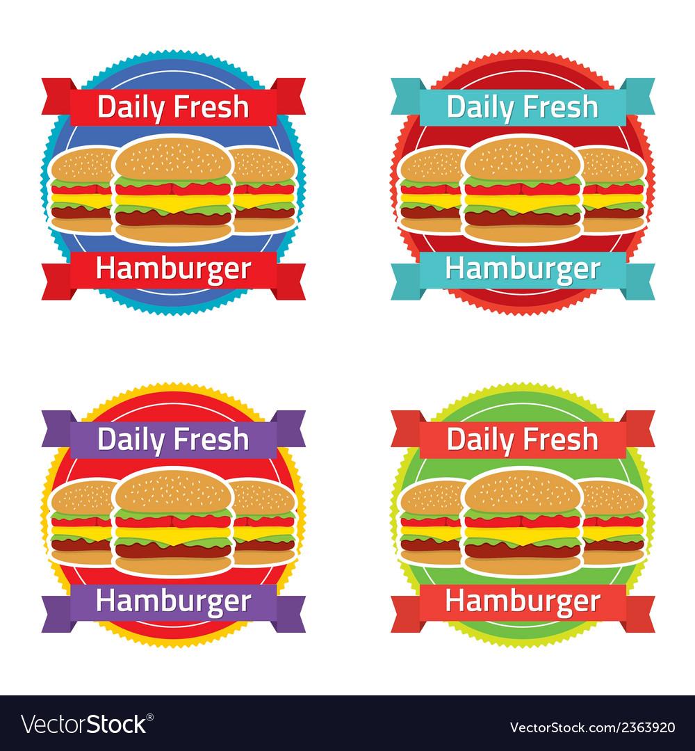 Hamburger label set vector | Price: 1 Credit (USD $1)