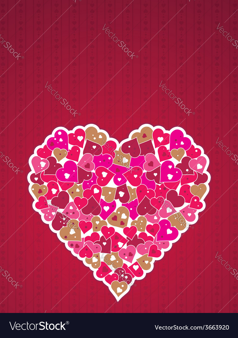 Lovely big pink heart vector | Price: 1 Credit (USD $1)