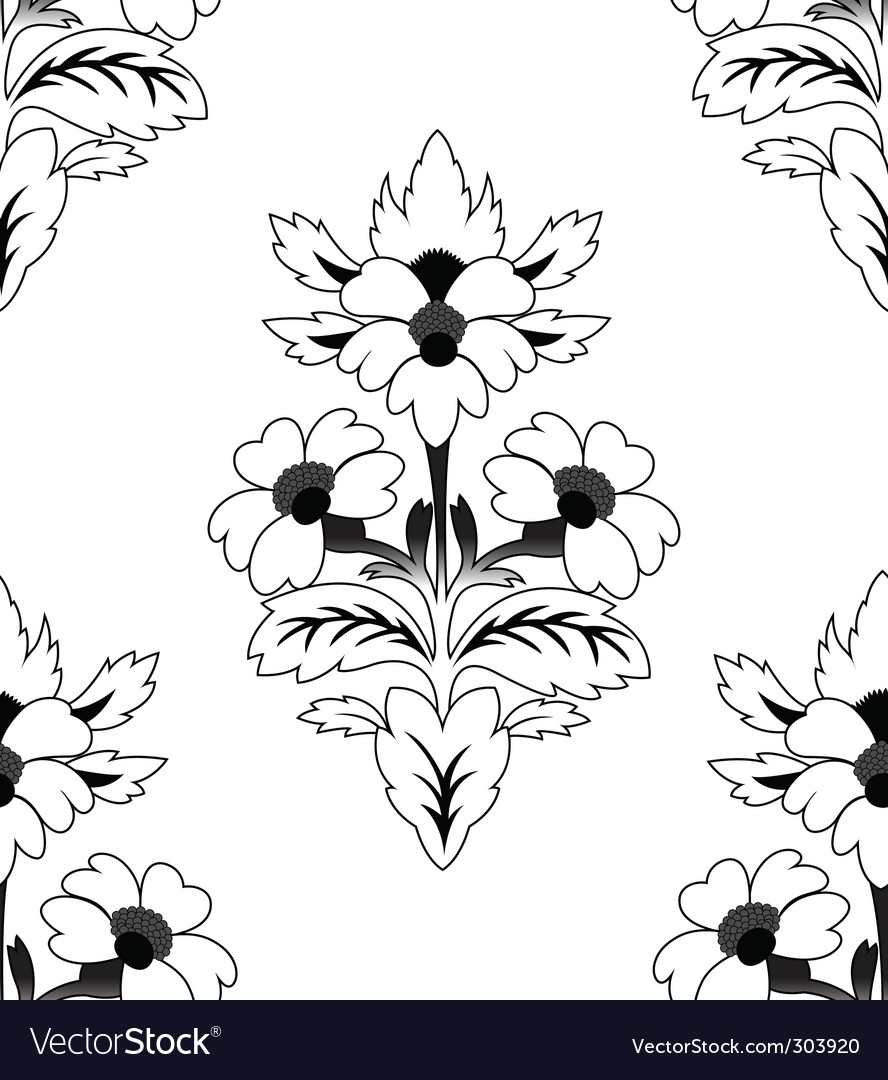 Seamless a repeating flower pattern vector | Price: 1 Credit (USD $1)