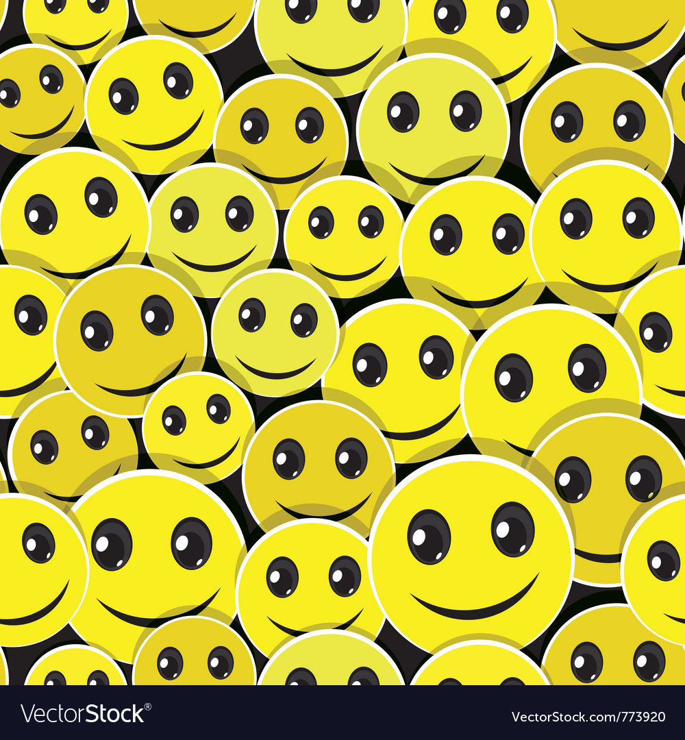 Smile face pattern vector | Price: 1 Credit (USD $1)