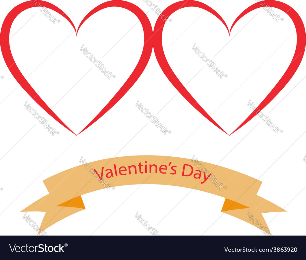 Valentines day hearts on a white background vector | Price: 1 Credit (USD $1)