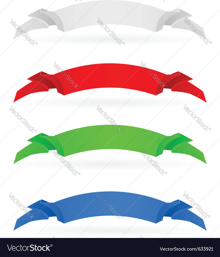 Banners set number four on white background for vector | Price: 1 Credit (USD $1)
