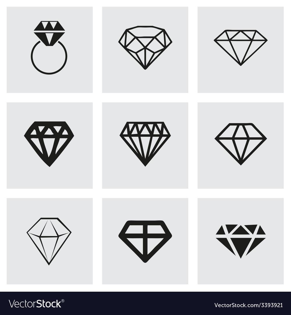Diamond icons set vector | Price: 1 Credit (USD $1)