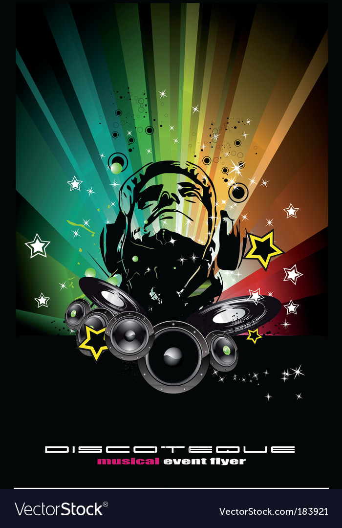 Dj background vector | Price: 3 Credit (USD $3)