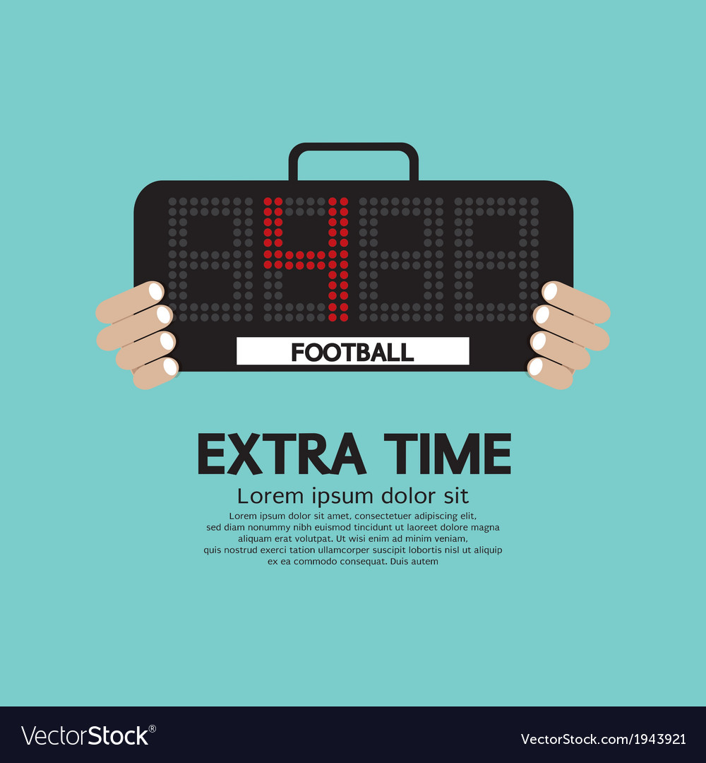Extra time vector   Price: 1 Credit (USD $1)