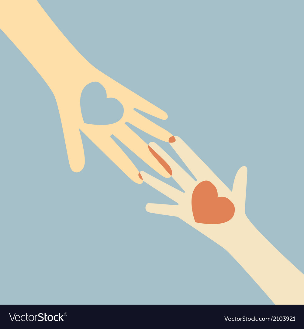 Hand giving love heart vector | Price: 1 Credit (USD $1)