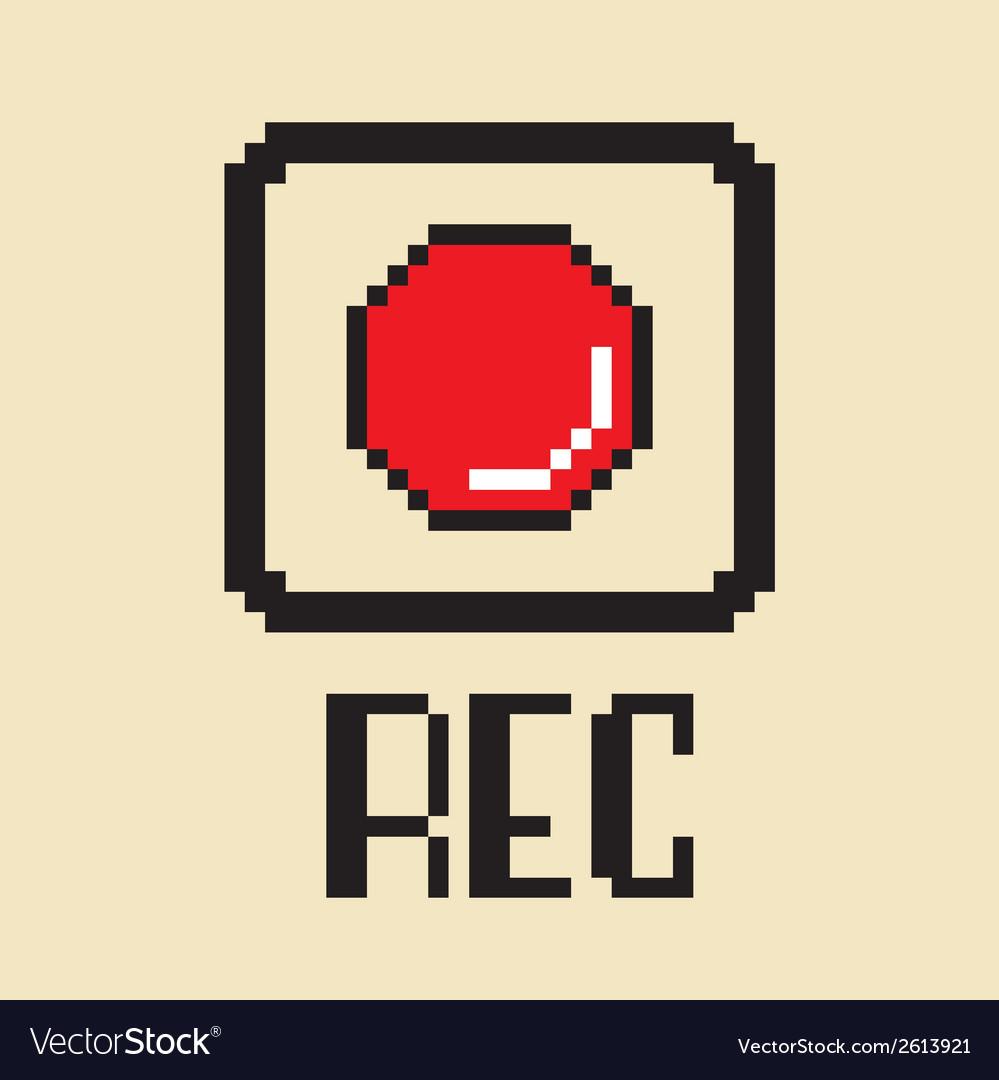 Record button vector | Price: 1 Credit (USD $1)