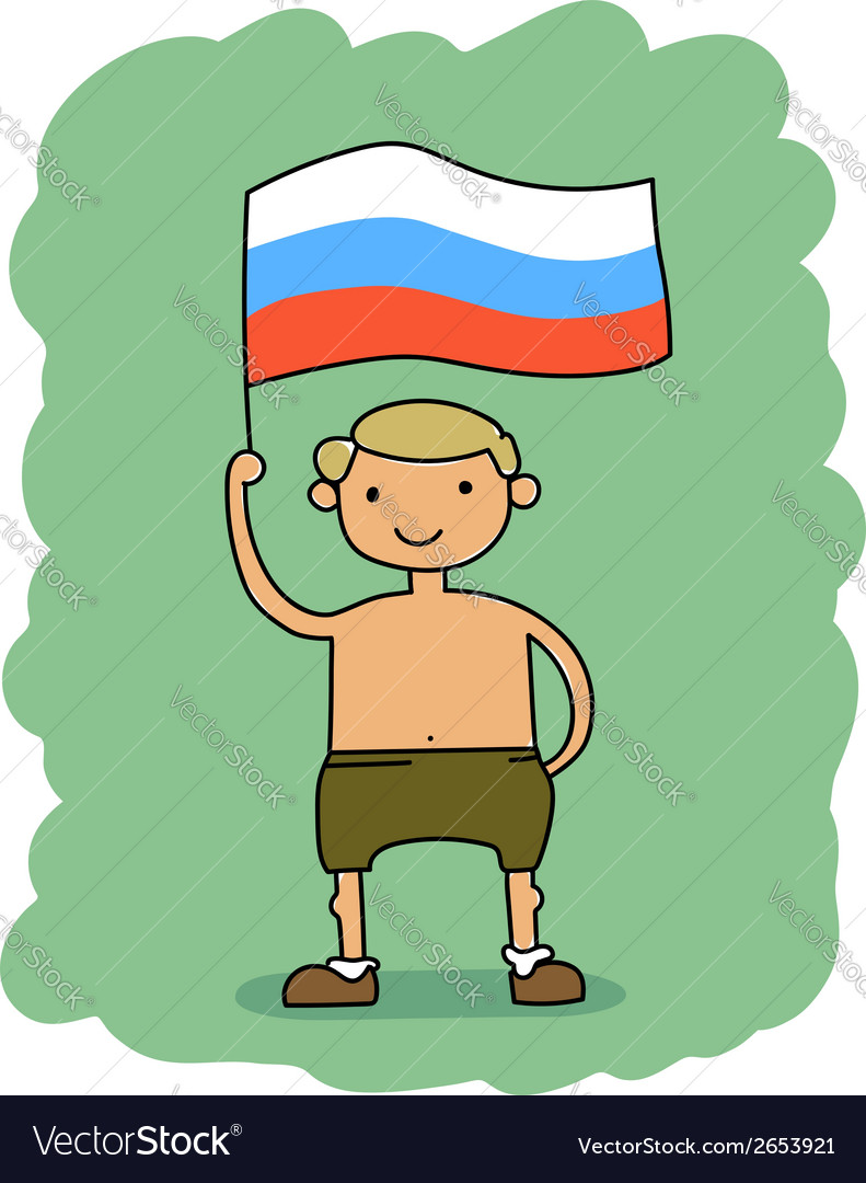 Russia flag vector | Price: 1 Credit (USD $1)