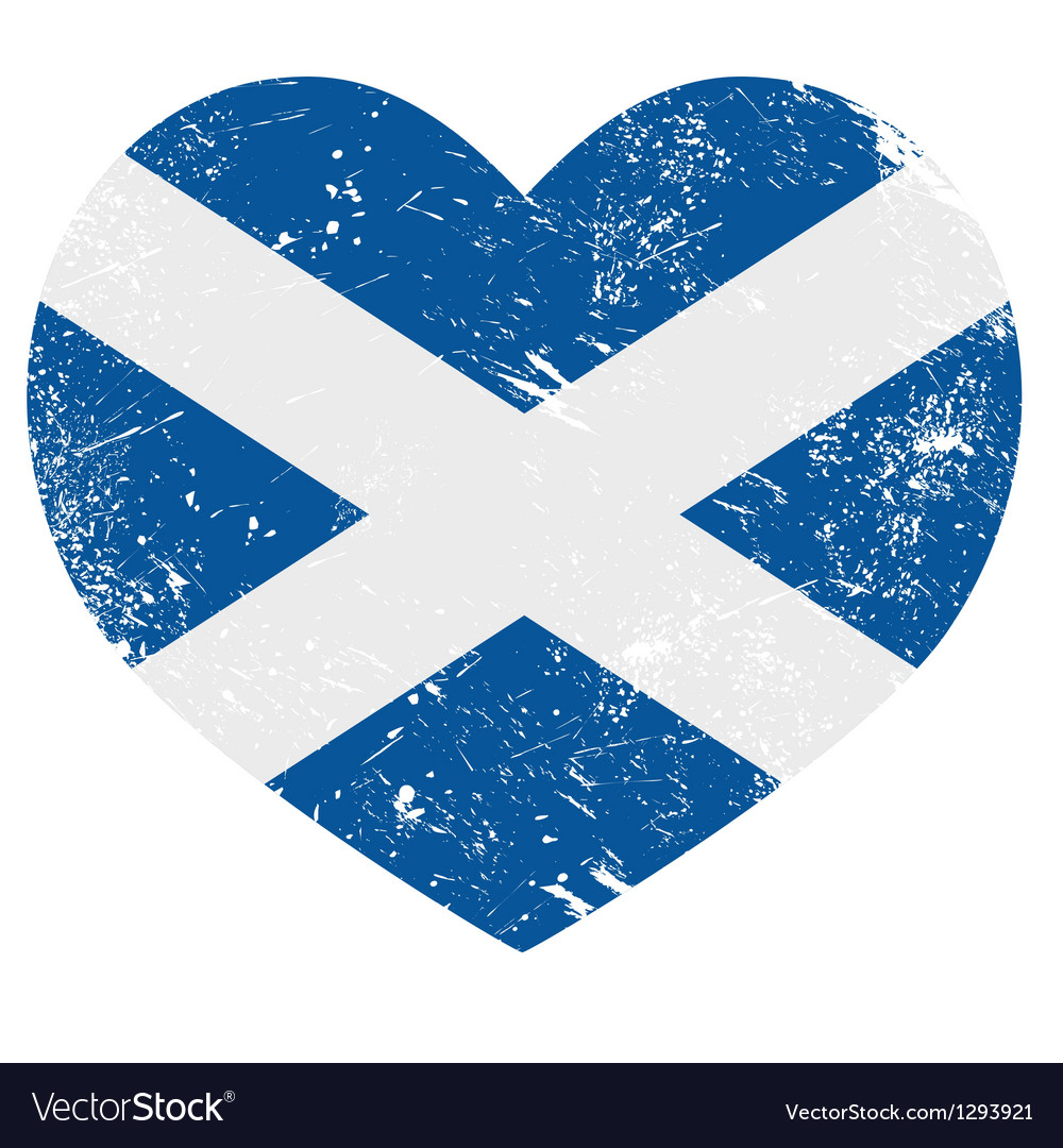 Scotland retro heart flag vector | Price: 1 Credit (USD $1)