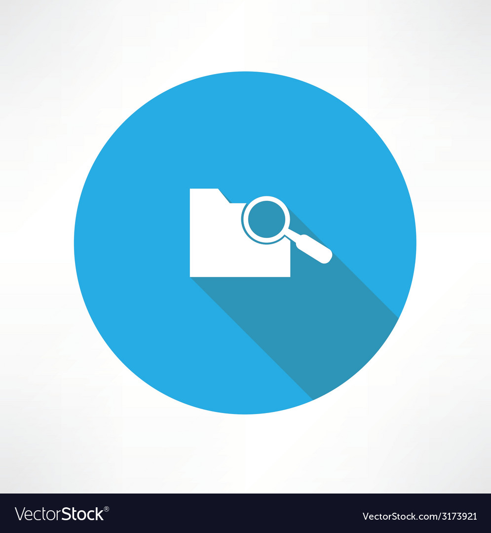 Search folder icon vector