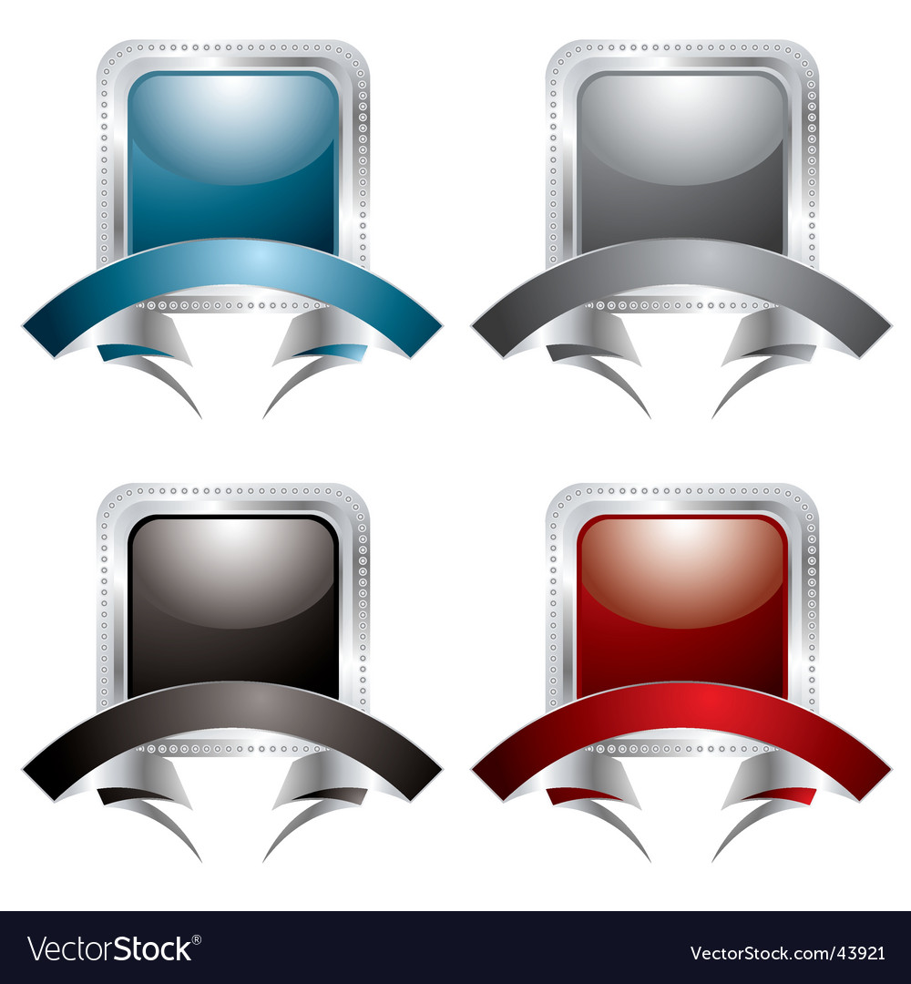 Silver rivet banner vector | Price: 1 Credit (USD $1)