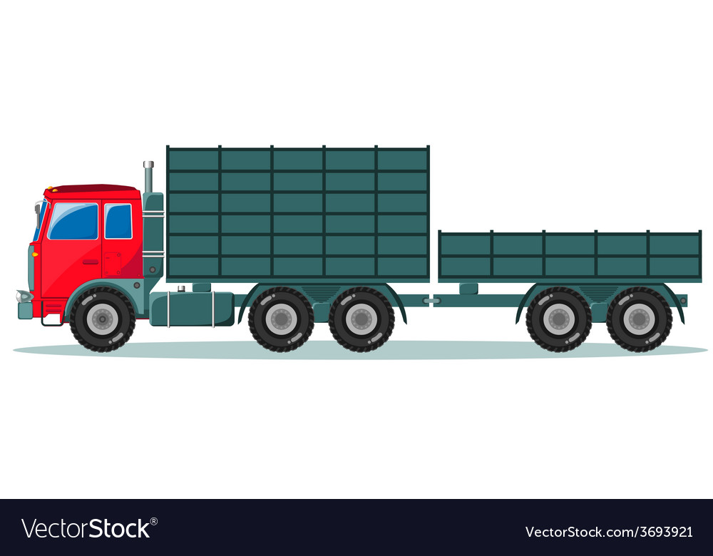 Truck with trailer vector | Price: 1 Credit (USD $1)