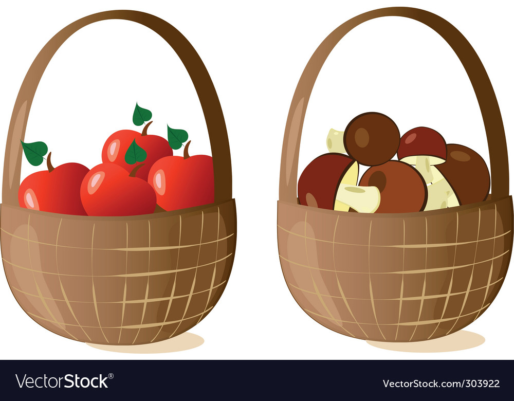 Baskets filled vector | Price: 1 Credit (USD $1)