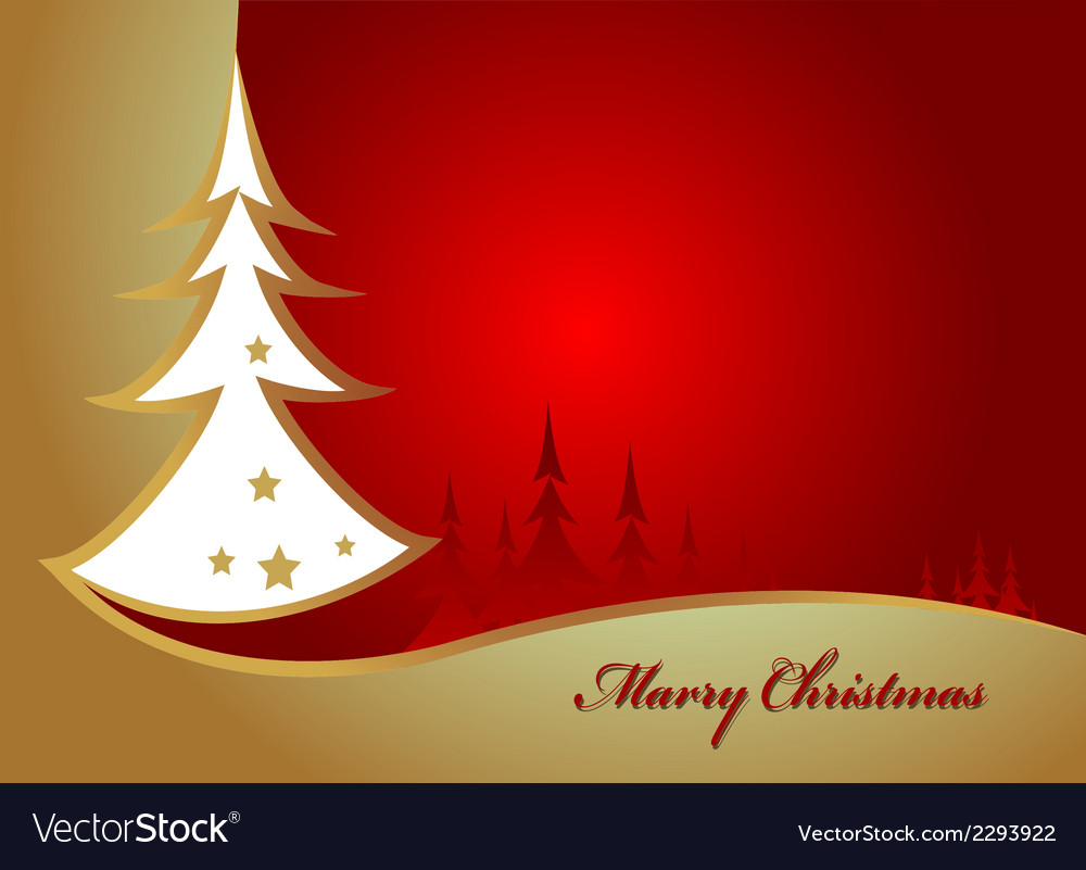 Beauty christmas tree background vector | Price: 1 Credit (USD $1)