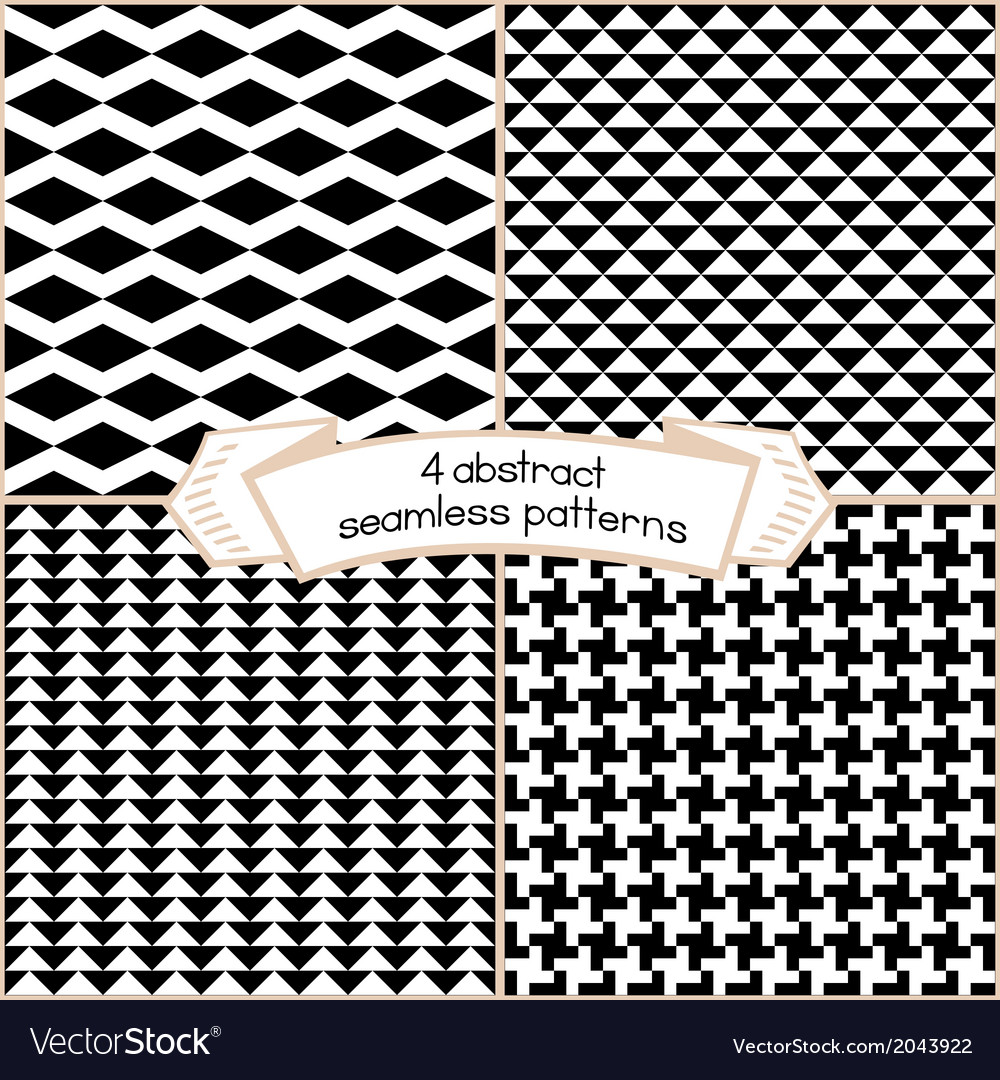 Black and white patterns vector | Price: 1 Credit (USD $1)