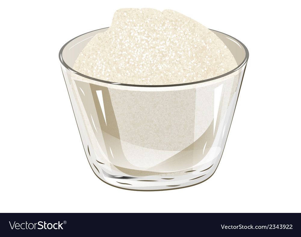 Bowl of sugar vector | Price: 1 Credit (USD $1)