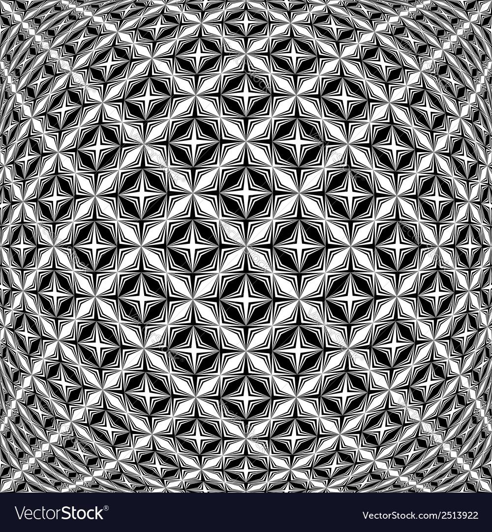 Design monochrome warped grid pattern vector   Price: 1 Credit (USD $1)