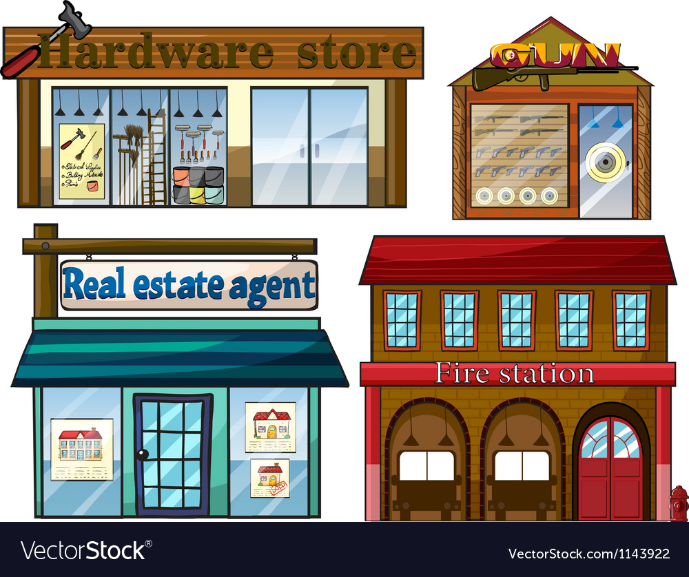 Different establishments vector | Price: 1 Credit (USD $1)