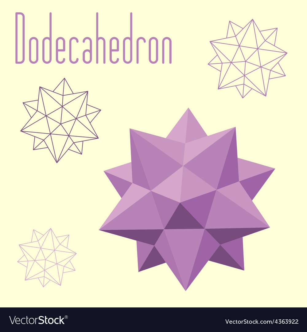 Dodecahedron-icosahedron compound figure for your vector | Price: 1 Credit (USD $1)