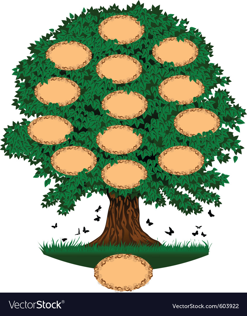 Family tree vector | Price: 1 Credit (USD $1)