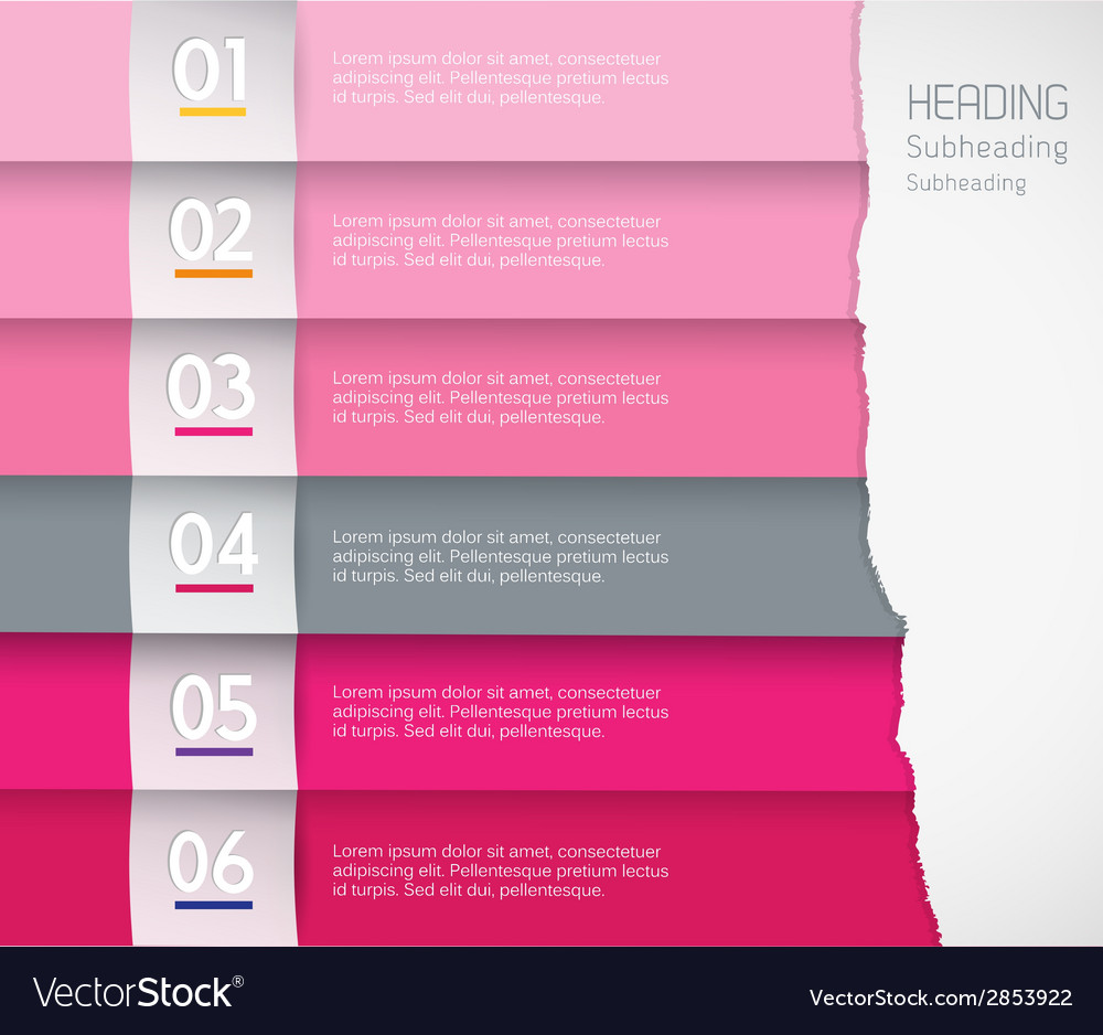 Flat design template with colored stripes - vector | Price: 1 Credit (USD $1)