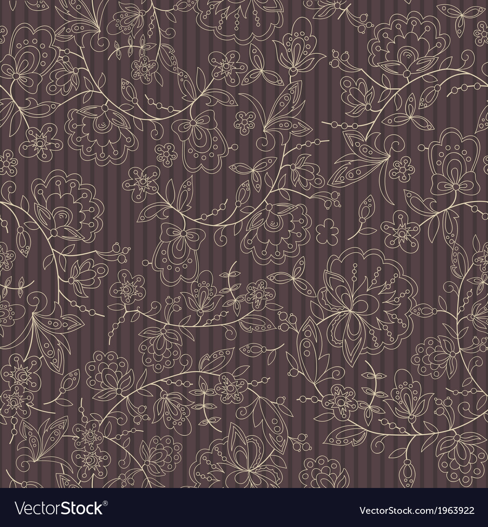 Flower branch brown stripe background vector | Price: 1 Credit (USD $1)
