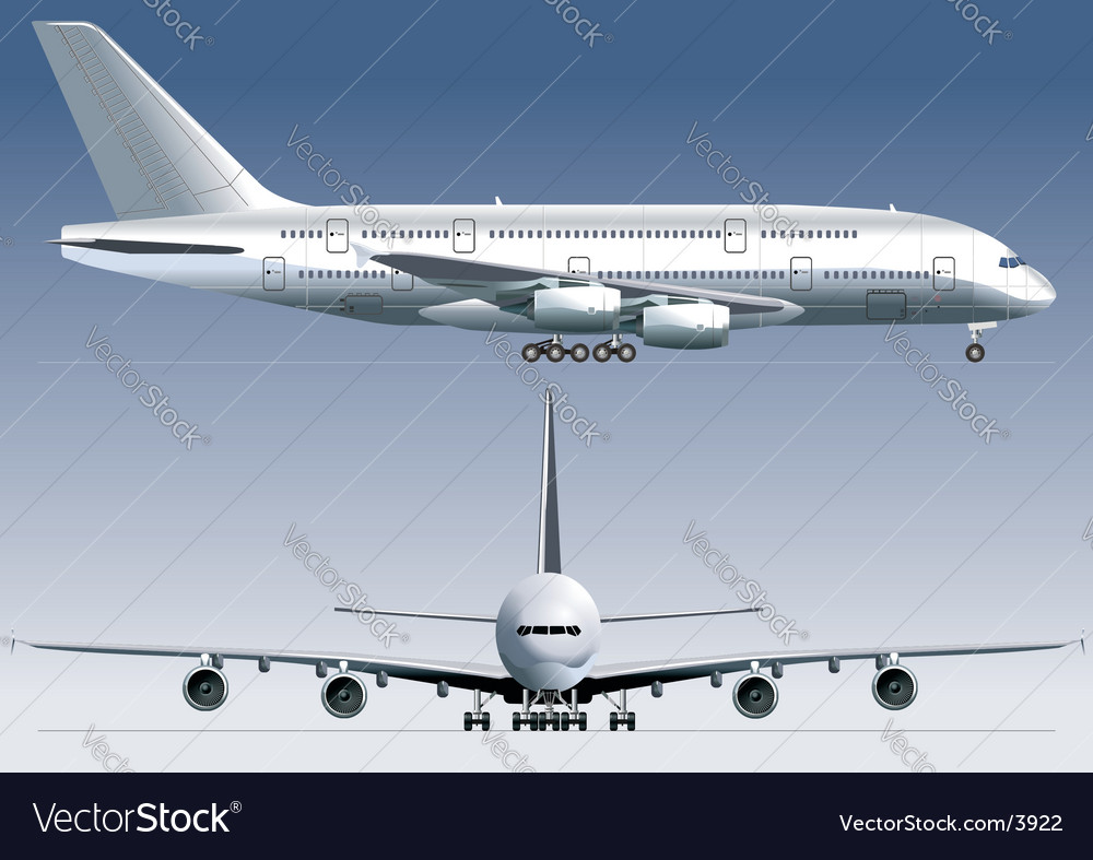 Jetliner vector | Price: 3 Credit (USD $3)