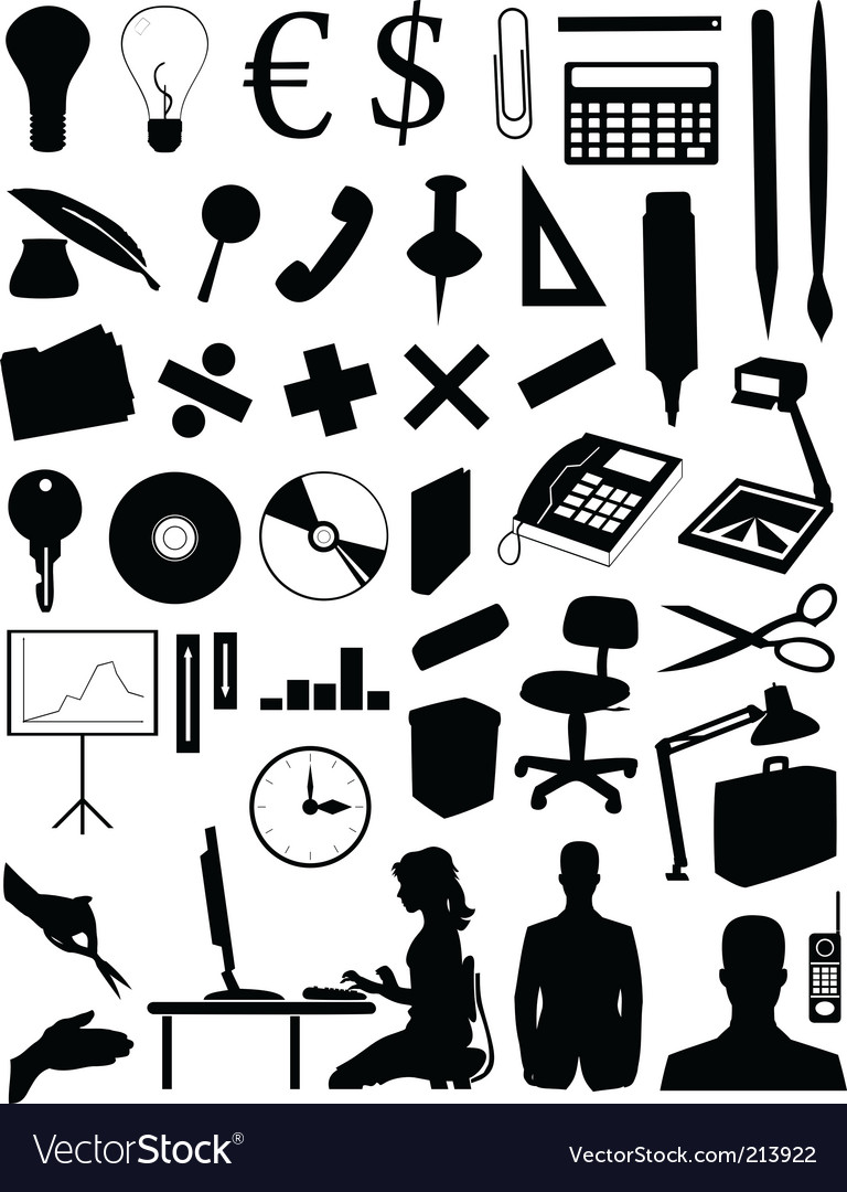 Office subjects vector | Price: 1 Credit (USD $1)
