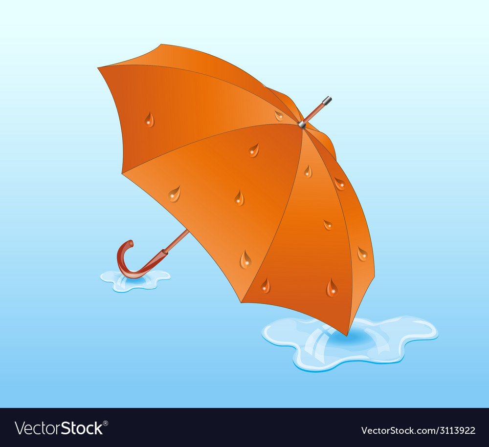 Orange umbrella vector | Price: 1 Credit (USD $1)