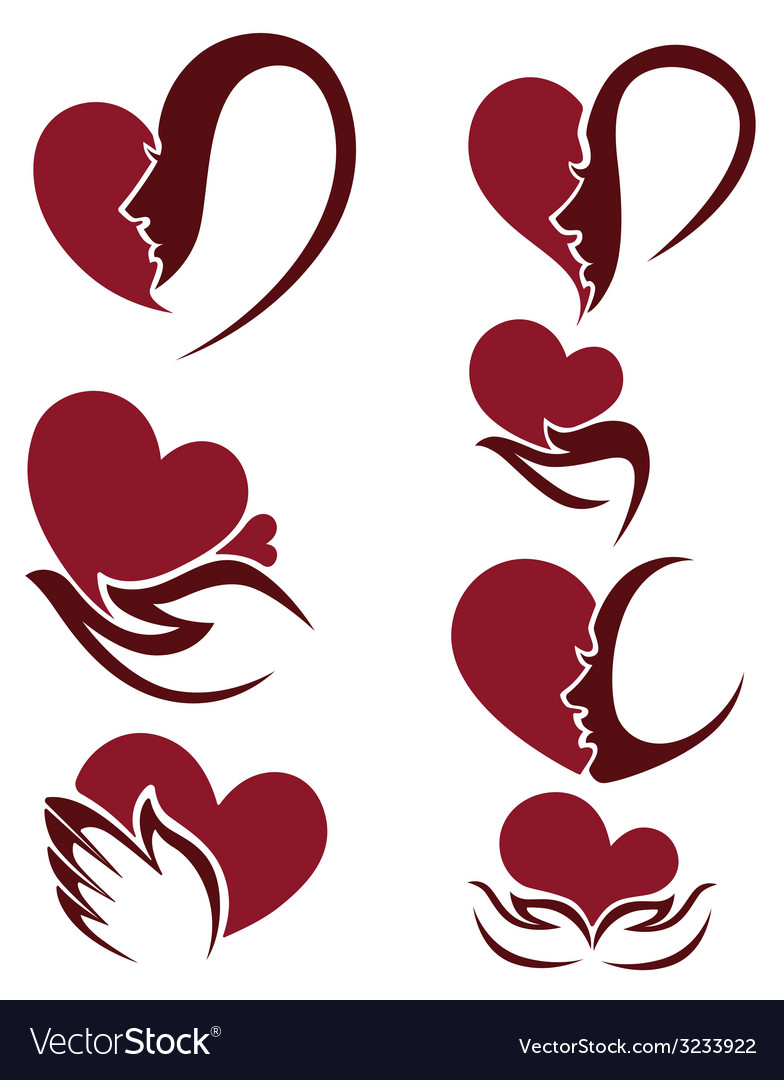 People and hearts vector | Price: 1 Credit (USD $1)
