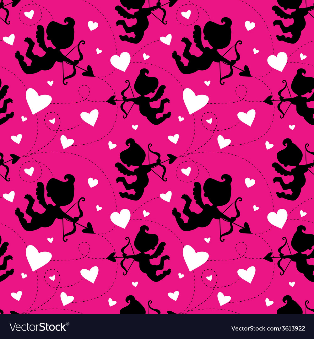Seamless pattern with cupids vector   Price: 1 Credit (USD $1)