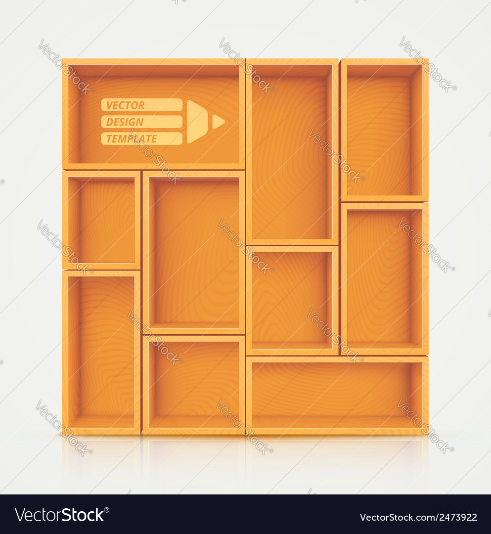 Shelves for design vector | Price: 1 Credit (USD $1)