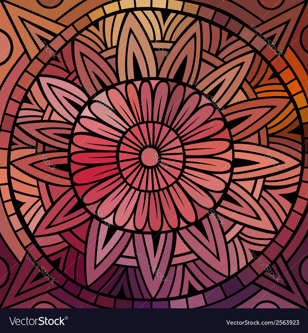 Abstract ethnic background vector   Price: 1 Credit (USD $1)