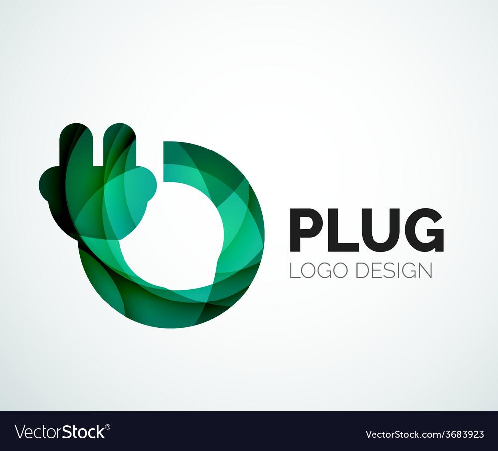 Abstract logo - plug icon vector | Price: 1 Credit (USD $1)