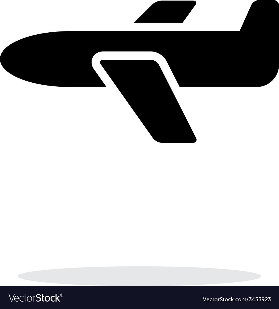 Airplane simple icon on white background vector   Price: 1 Credit (USD $1)