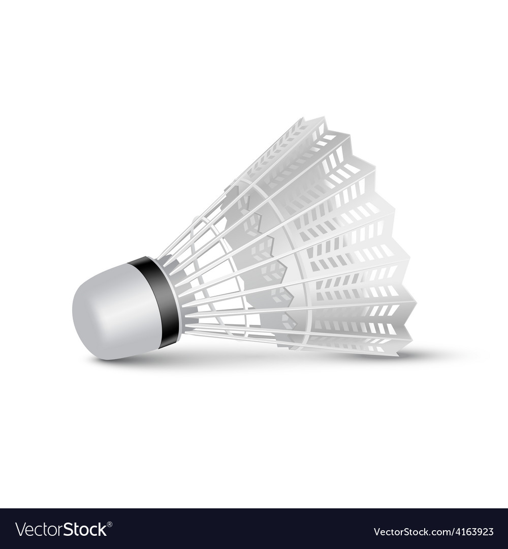 Badminton shuttlecock isolated on white vector | Price: 1 Credit (USD $1)