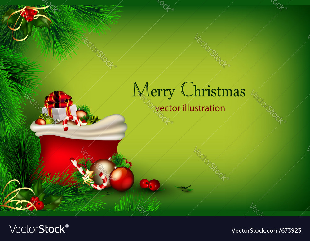Bright green christmas vector | Price: 3 Credit (USD $3)