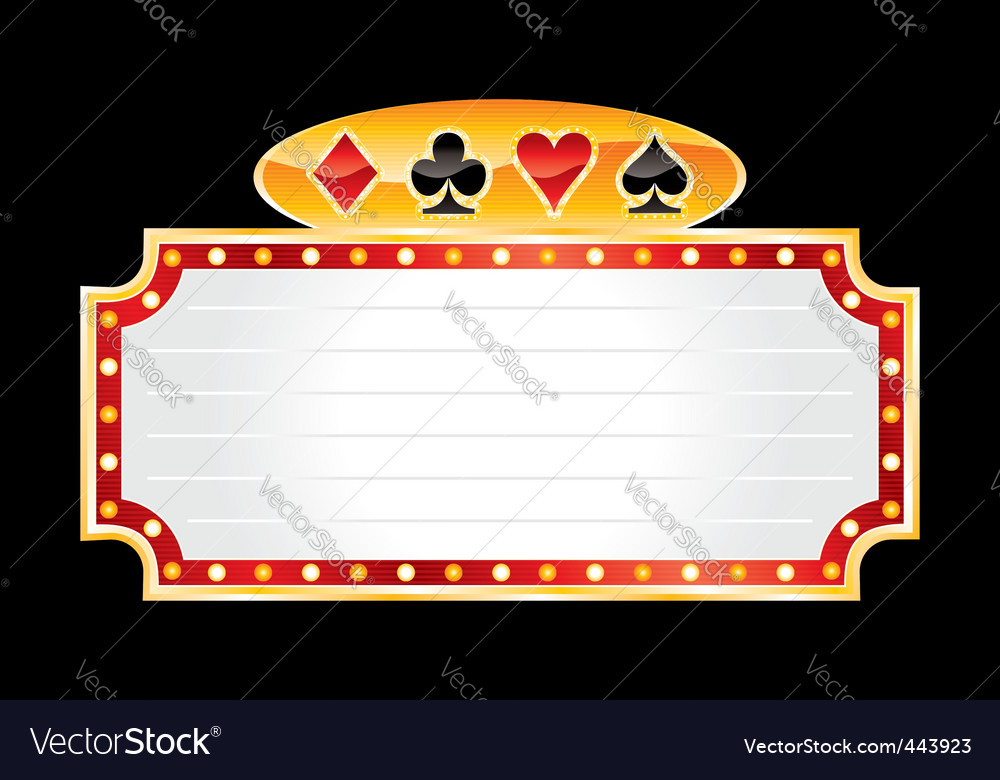 Casino neon vector | Price: 1 Credit (USD $1)