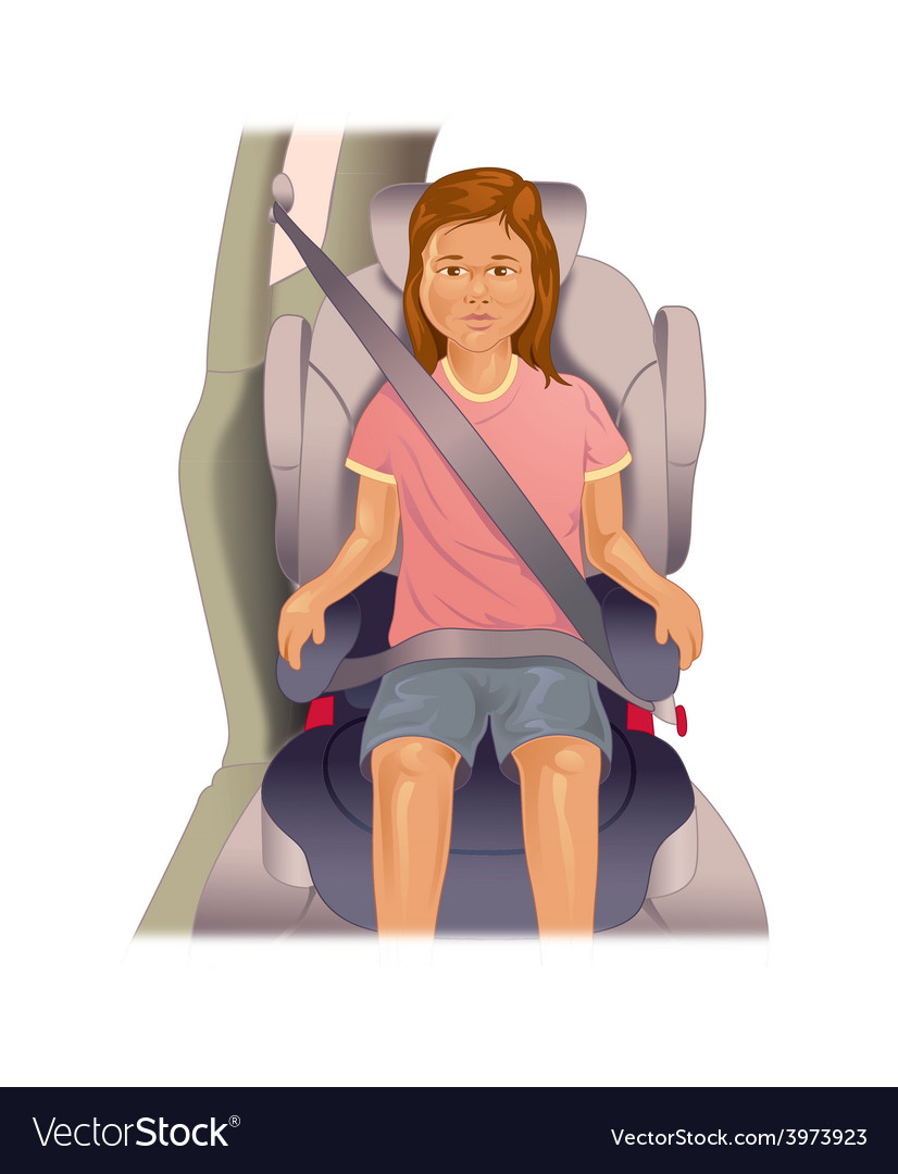 Child booster seat vector | Price: 1 Credit (USD $1)